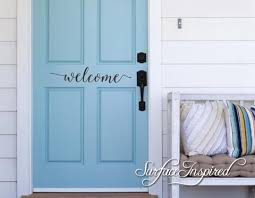 Wall Decal Quote Door Welcome Vinyl Door Decal Lettering Sticker Surface Inspired Home Decor Wall Decals Wall Art Wooden Letters