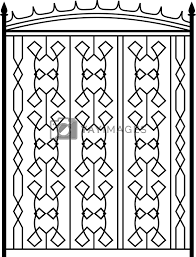 Wrought Iron Gate Door Fence Window Grill Railing Design Royalty Free Stock Image Stock Photos Royalty Free Images Vectors Footage Yayimages