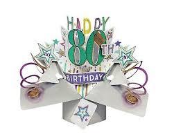 80th birthday card 3d pop up card male