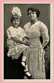 Christina Adele Nelson with daughter Cecilia (1914)   Flickr