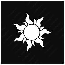 Tangled Sun Symbol Vinyl Decal Sticker Rapunzel Lantern Etsy