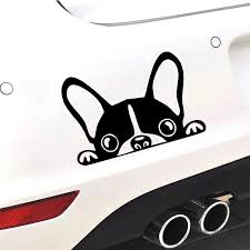 Cute Boston Terrier Car Sticker Automobiles Laptop Dog Stickers And Decal For Cars Styling Vinyl Auto Products Window Decoration Car Stickers Aliexpress