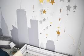 New York City Skyline Decal In Travel Themed Nursery Hgtv