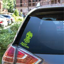 Baby On Board Car Vinyl Decal Sticker Baby Groot Inverted Londondecal