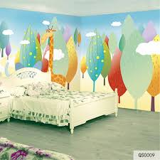 Custom Fabric Textile Wallcoverings For Walls Matt Silk For Kids Bedroom Murals Home Decor Cartoon Animal Trees Cloud Good Fabric Textile Wallcoverings Aliexpress