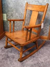 antique homemade child s rocking chair