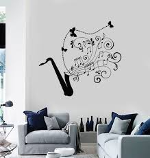 Wall Decal Saxophone Jazz Music Art Musical Instrument Vinyl Stickers Unique Gift Ig2881 Music Wall Decal Jazz Music Art Music Wall Stickers