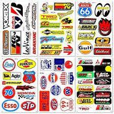 Auto Car Parts Nhra Drag Racing D6095 Lot 6 Vinyl Graphics Stickers Decals Sheet Ebay