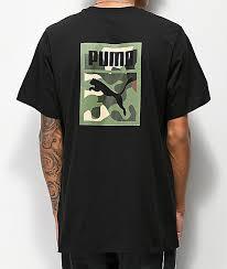 puma wild pack black camo t shirt