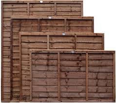 Weatherwell Lap Wooden Fence Panels 3ft 4ft 5ft 6ft Horizontal Pressure Treated 6ft X 3ft Amazon Co Uk Diy Tools
