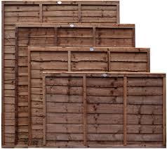 Weatherwell Lap Wooden Fence Panels 3ft 4ft 5ft 6ft Horizontal Pressure Treated 6ft X 5ft Amazon Co Uk Diy Tools