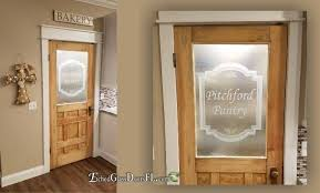 decorating frosted glass pantry door