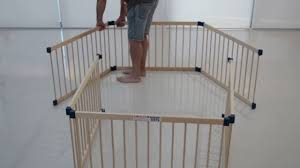 Wooden Playpen Assembly Youtube