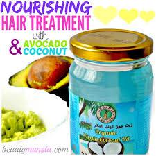 diy avocado and coconut oil hair mask