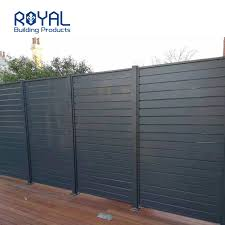 China Aluminum Powder Coating Wood Grain Slat Privacy Fence China Metal Fence And Security Fence Price