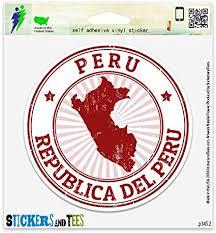Amazon Com Peru Vinyl Car Bumper Window Sticker 10 X 10 Automotive