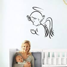 Religion Angel Wall Stickers For Kids Rooms Home Decoration Vinyl Art Painting On The Wall Removable Wall Decals For Bedroom Boys Wall Stickers Butterfly Wall Decals From Moderndecal 5 76 Dhgate Com