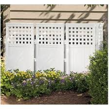 44 Resin Wicker Screen Enclosure White Outdoor Screens Privacy Screen Outdoor Outdoor Privacy