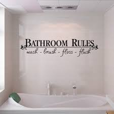 Bathroom Rules Quote Wall Decals Bath Room Stickers Art Home Diy Decor Vinyl Us 8036267448622 Ebay