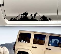 Product Mountain Decal Sticker Car Truck Suv Camper Door Body Graphic Window Windshield Vinyl Custom Personalized Forest Nature