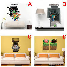 3d Minecraft Wall Sticker Cartoon Wallpaper For Decal Decorations Kids Room Wall Decal Home Decoration Steve Decorative For Kids Art Paper Super Mario Wall Stickers The Wall Sticker From Jy Toys 1 61 Dhgate Com