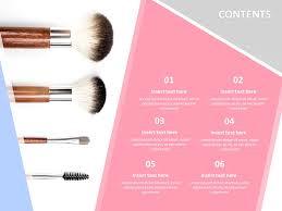 makeup brush google slides template