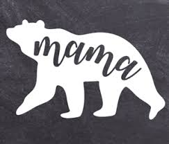 Mama Bear Vinyl Decal Adorable Mother Child Mom Love Car Suv Laptop Sticker