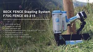 Beck Fastening Fence Stapling System