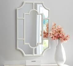 white bamboo framed mirror
