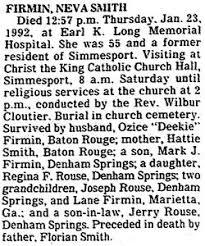 Neva Smith Firmin (1936-1992) - Find A Grave Memorial