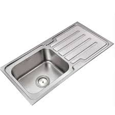 single bowl and drainboard kitchen