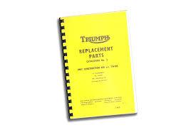parts manual book 1966 tr6 t120