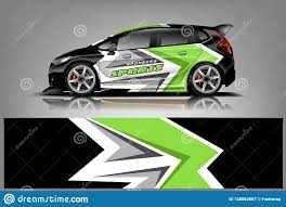 Sport Car Decal Wrap Design Vector Graphic Abstract Stripe Racing Background Kit Designs For Vehicle Stock Illustration Illustration Of Racing Rally 148062867