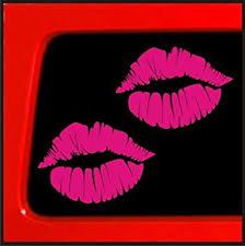 Amazon Com Sticker Connection Kiss Mark Lips Bumper Sticker Decal For Car Truck Window Laptop 3 8 X5 5 Pink Automotive