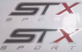 Product Stx Sport Decal Stickers Black Matt And Gray Ford Truck Set