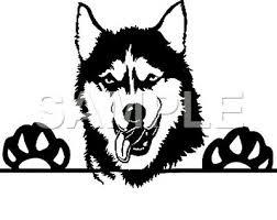 Siberian Husky Vinyl Decal Car Truck Window Sticker Choice Of 1 Ebay