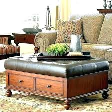 ottoman with storage leather