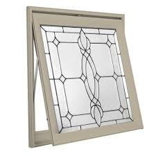 decorative glass awning vinyl window