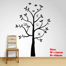 Amazon Com Family Tree Wall Decal With Butterflies And Birds Photo Tree Wall Decal Vinyl Wall Art Photo Frame Tree Stickers Living Room Home Decor Wall Sticker Baby