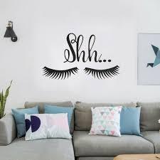 Beautiful Lovely Shh Eyelash Wall Sticker Vinyl Baby Girls Room Door Decal Decor For Sale Online