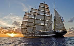 wallpaper boat sailing ship sea