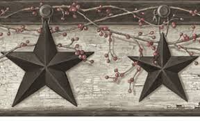 rustic barn star wallpaper border ennis