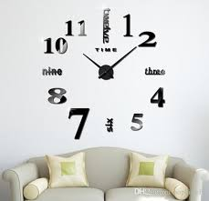 Acrylic Diy Wall Clock Self Adhesive Interior Wall Creative Decoration Clock Decal Modern Wall Digit Room Red Clock Red Clocks From Sophine11 15 76 Dhgate Com