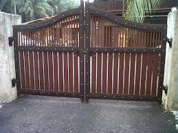 Kapsah Custom Carpentry House Main Gate 10ft X 6ft Rm 7000 Cengal Kapsah Custom Carpentry House Main Gate 10ft Casas Rusticas Mexicanas Casas Puertas De Hierro