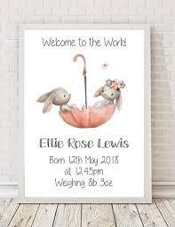 personalised baby birth christening