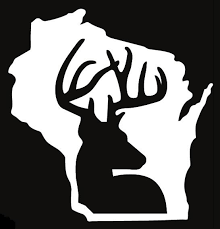 Wisconsin Whitetail Deer Hunting Window Decal