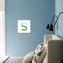 Alphabet Letter S Cartoon Flat Style For Children For Kids Boys And Girls With City Houses Cars Art Print Popmarleo Art Com