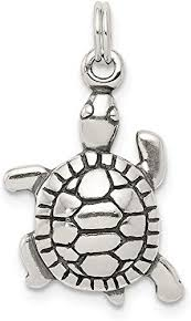 925 sterling silver antique turtle