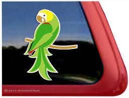 Custom Amazon Parrot Bird Decals Stickers Nickerstickers