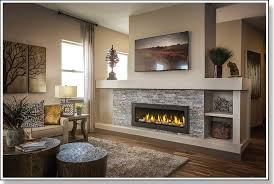 gas fireplace insert fake fireplace